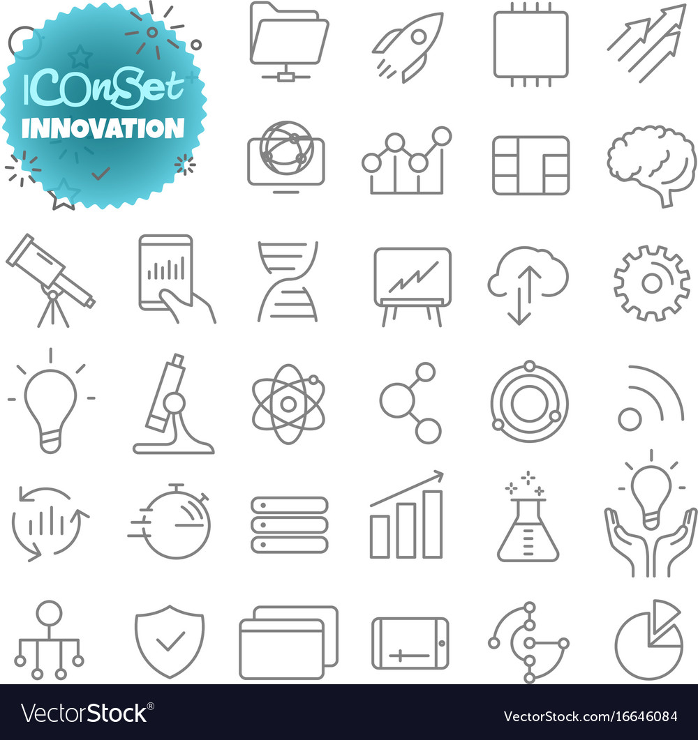Outline icon set pictogram set innovation