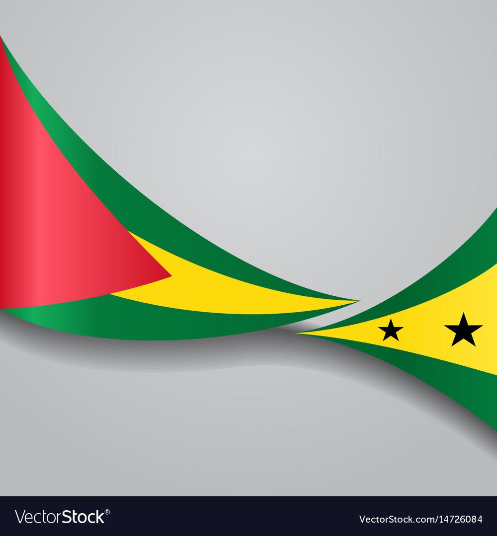 Sao tome and principe wavy flag