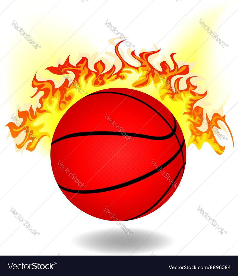 Simple burning basketball