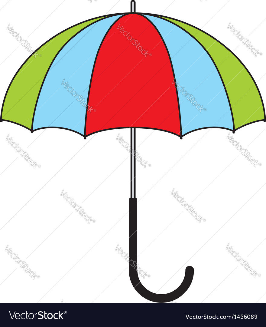 colorful umbrella royalty free vector image vectorstock rh vectorstock com umbrella vector white umbrella vector free download