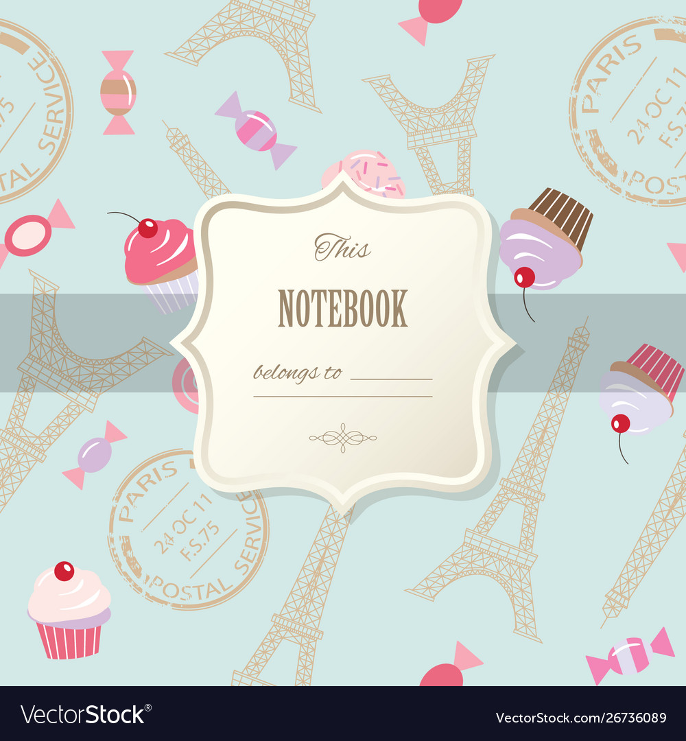 Cute template for scrapbook girly design birthday