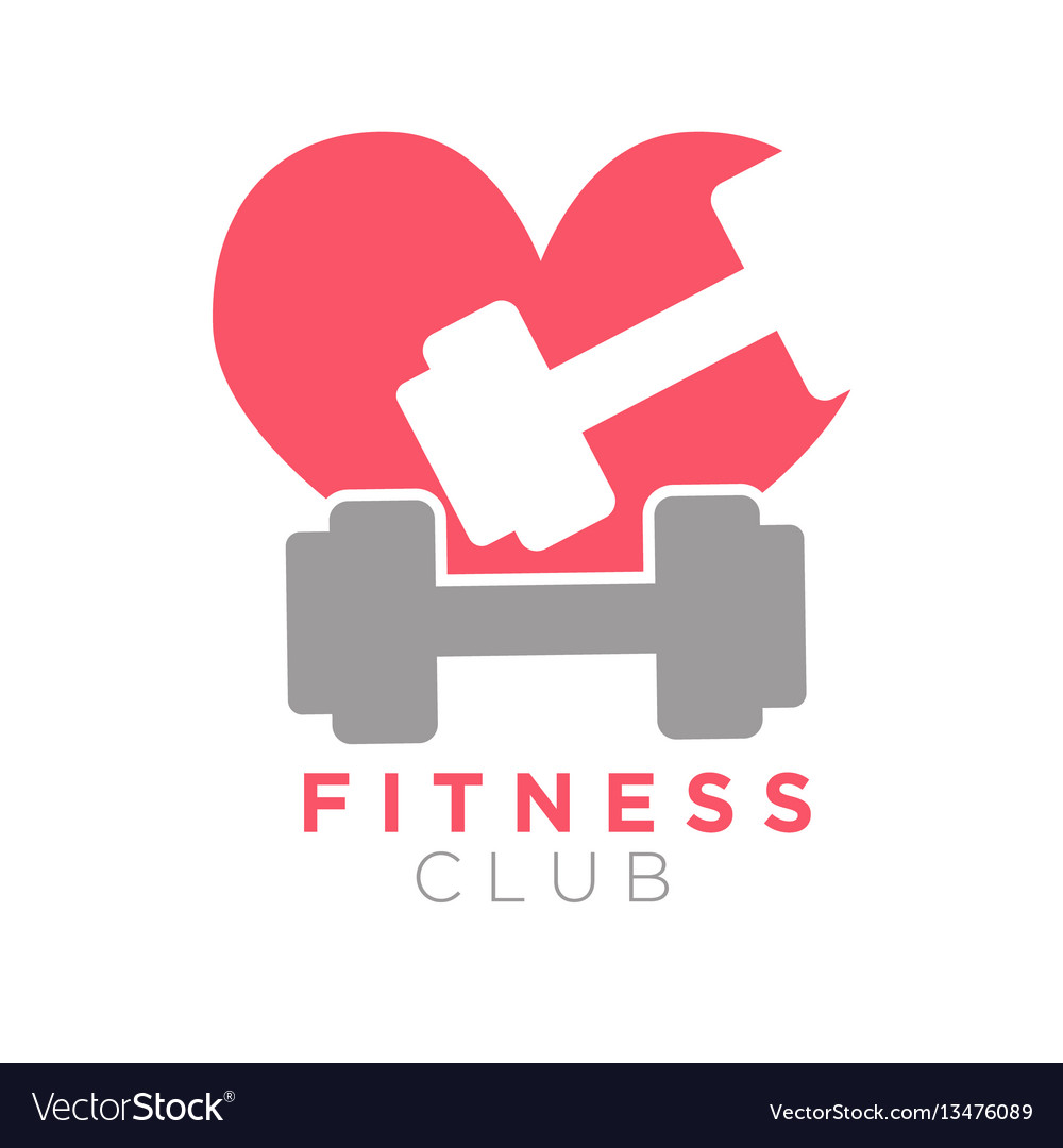 Fitness club logo design with dumbbells on
