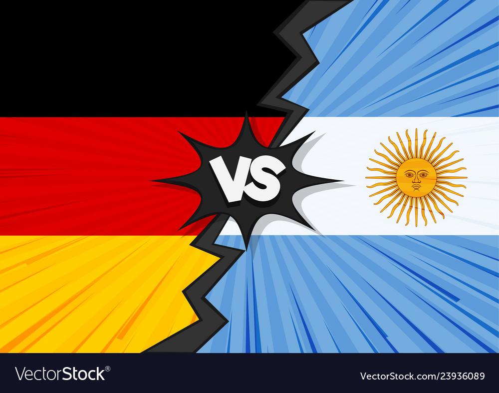 Germany versus argentina flag