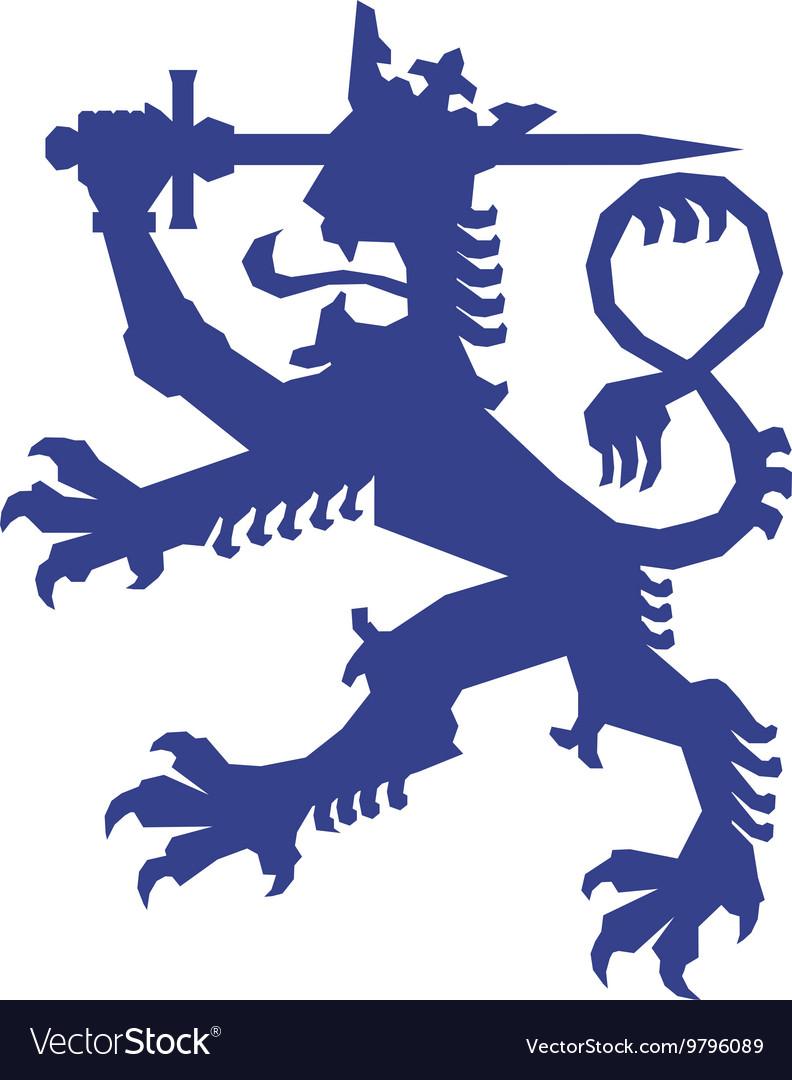 Heraldic lion icon Insignia design