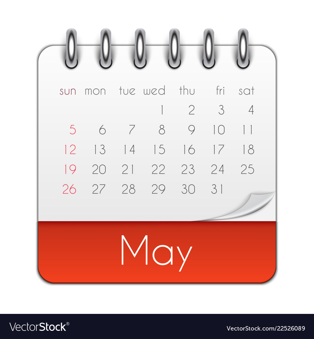 May 2019 Calendar Leaf Template