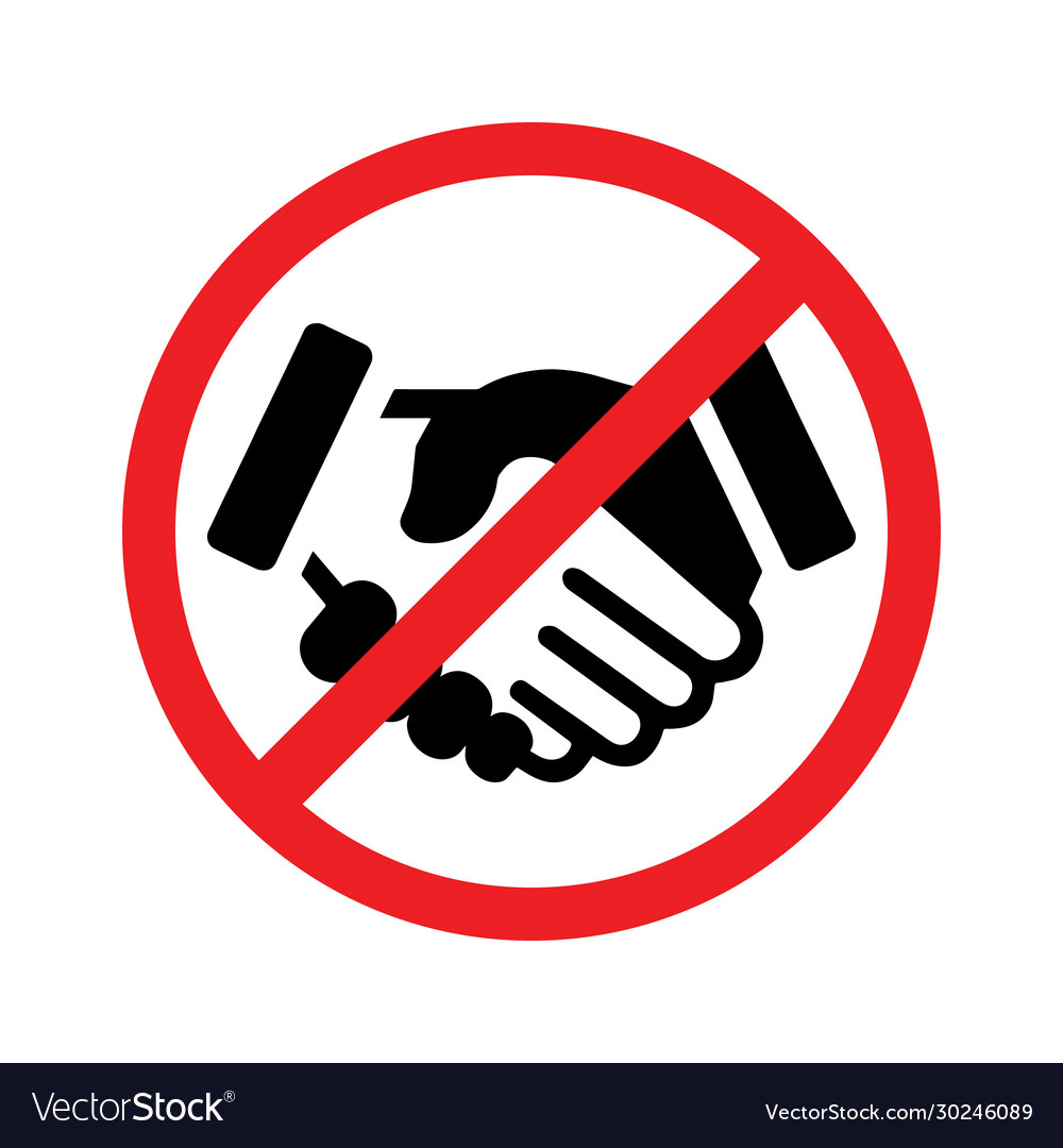 No Handshake Icon Royalty Free Vector Image Vectorstock Icons are in line, flat, solid, colored outline, and other styles. vectorstock