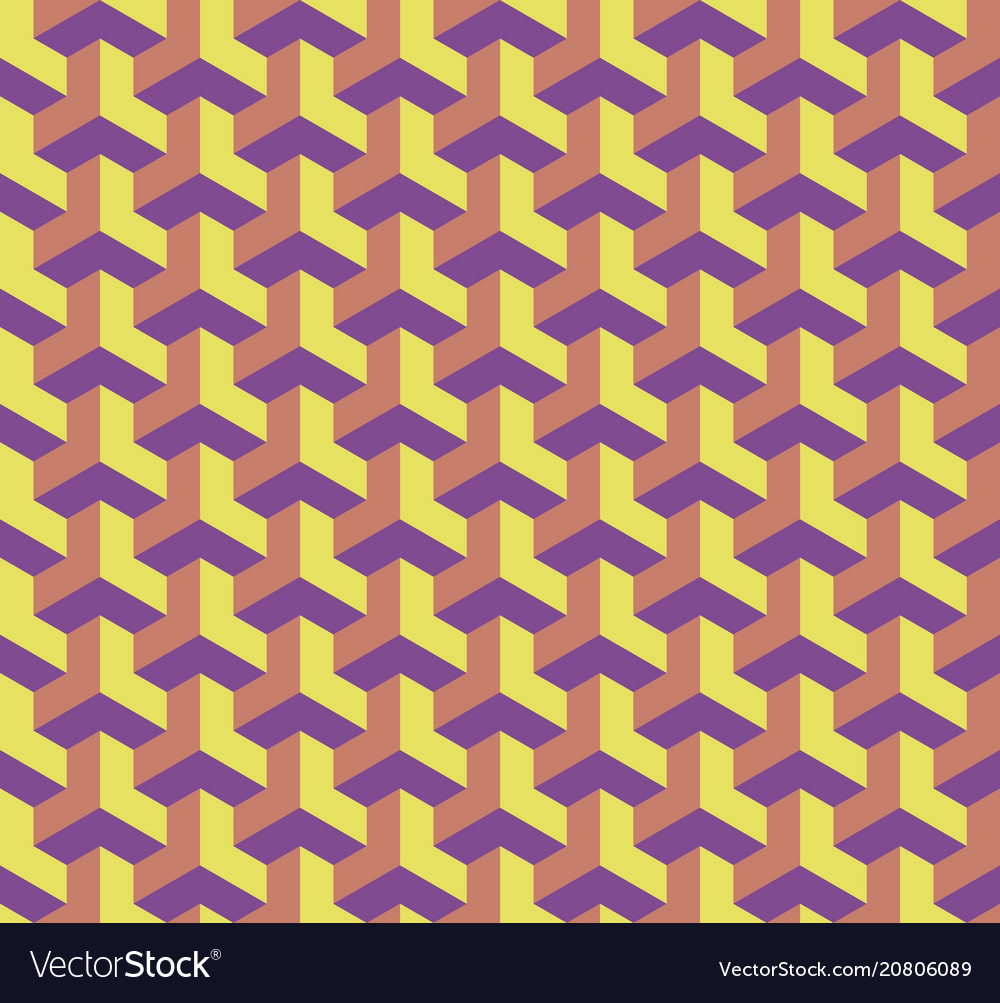 Seamless geometric pattern with cubes 3d effect