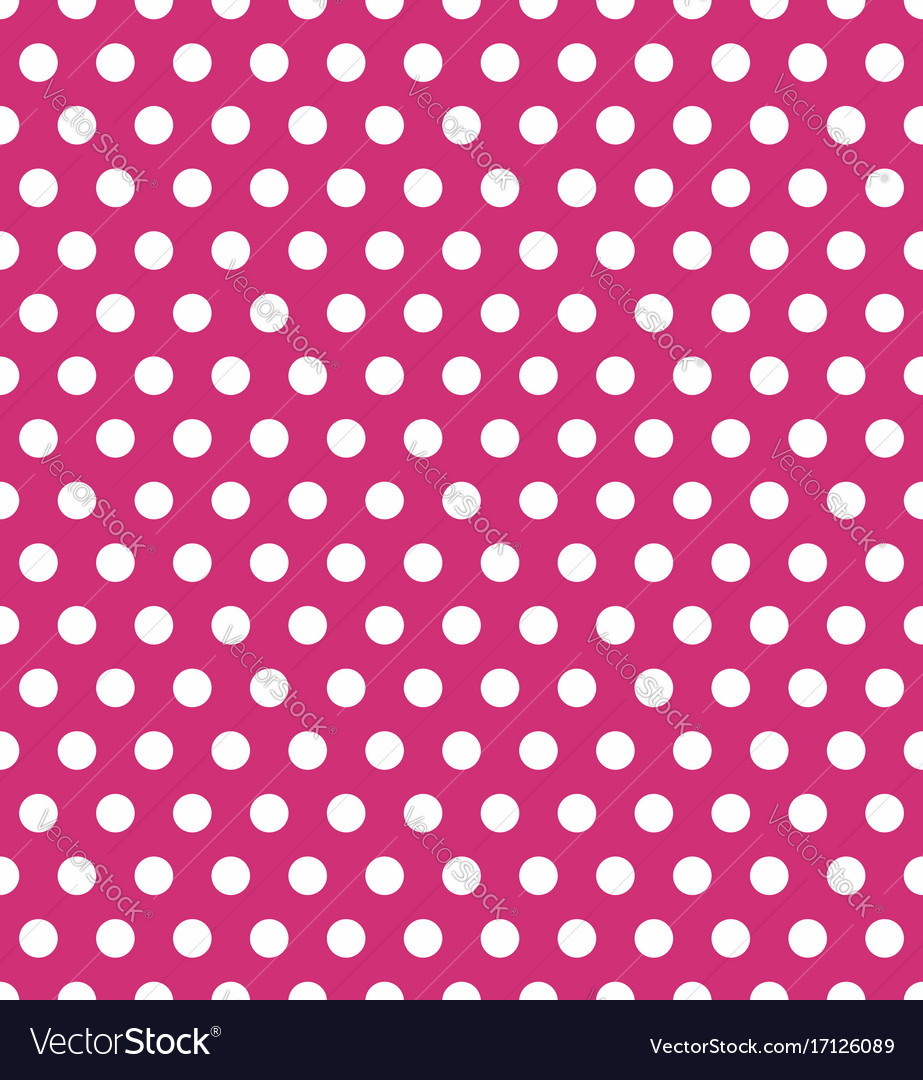 Seamless polka dot pattern colorful stamp for