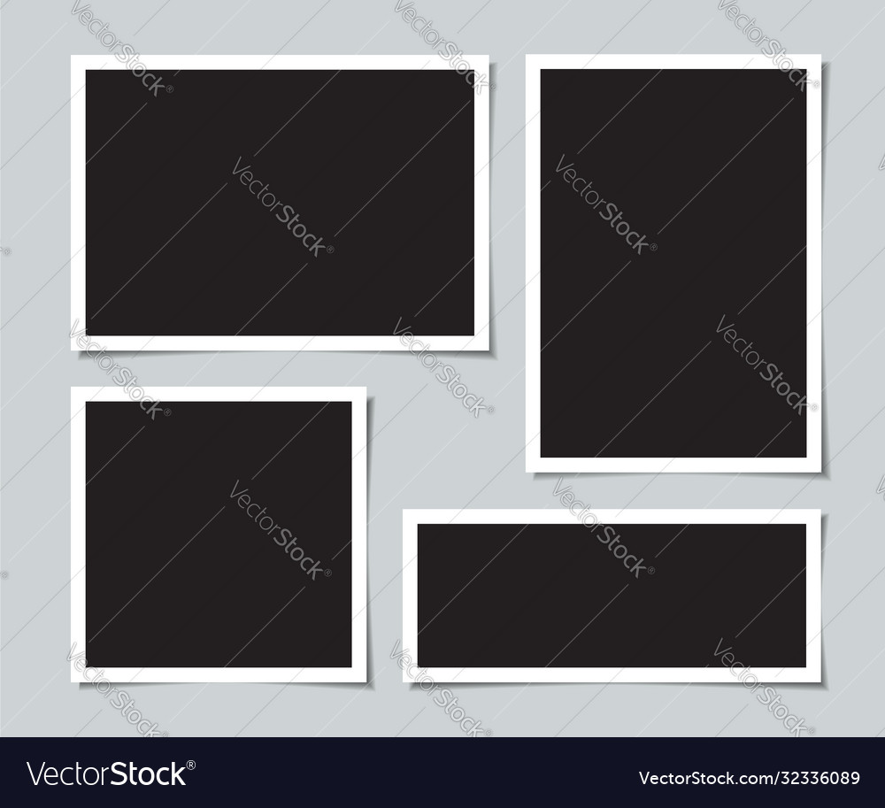 Set blank photos for collage