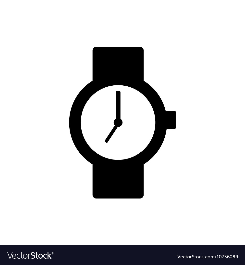 wrist watch icon royalty free vector image vectorstock rh vectorstock com watch vector hd watch victorious free