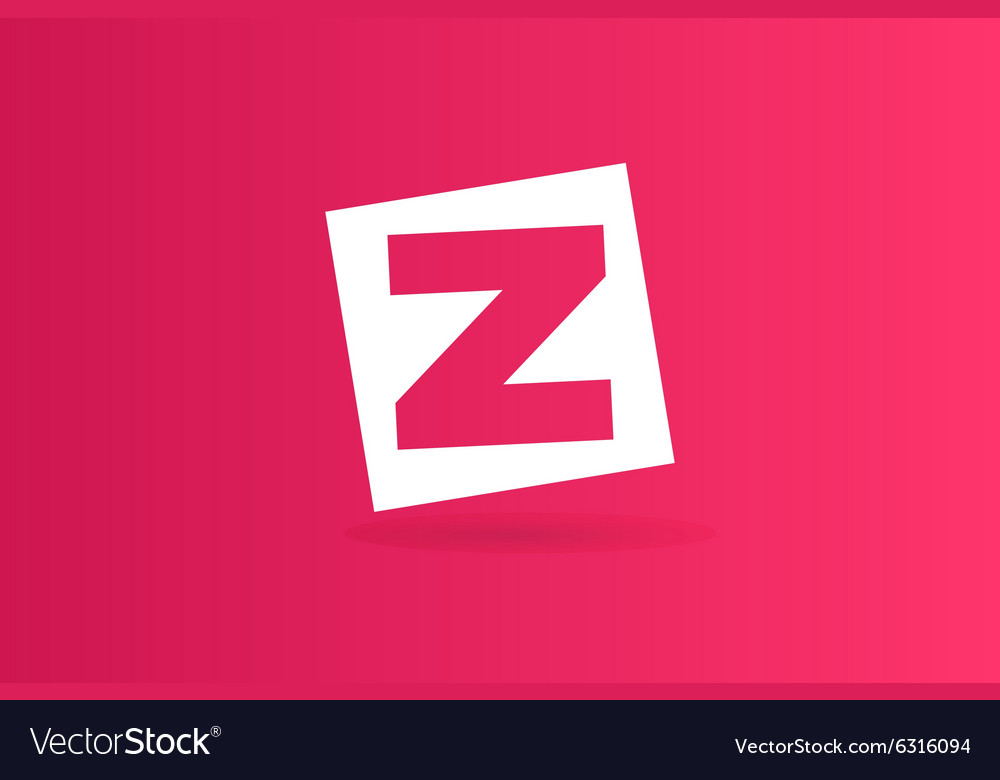 Abstract Z character logo icon template