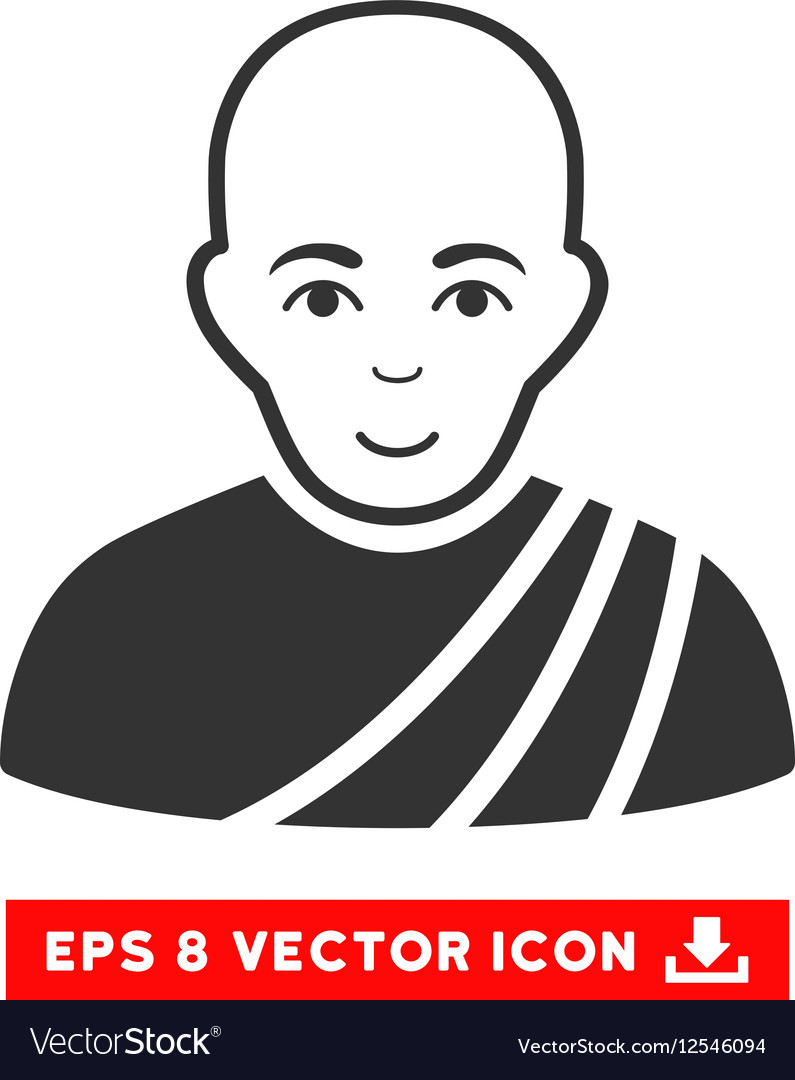Buddhist Monk EPS Icon vector image