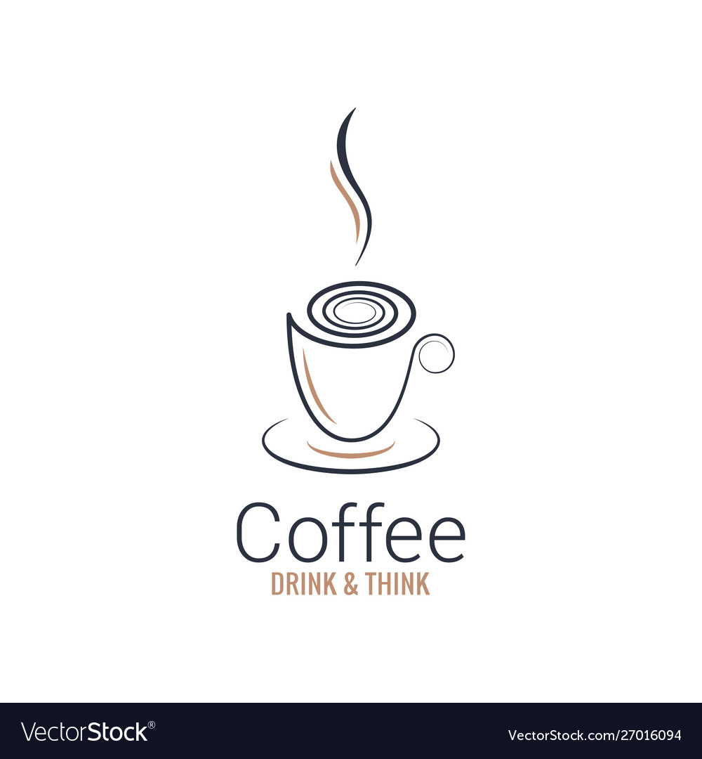 Coffee cup abstract design on white background