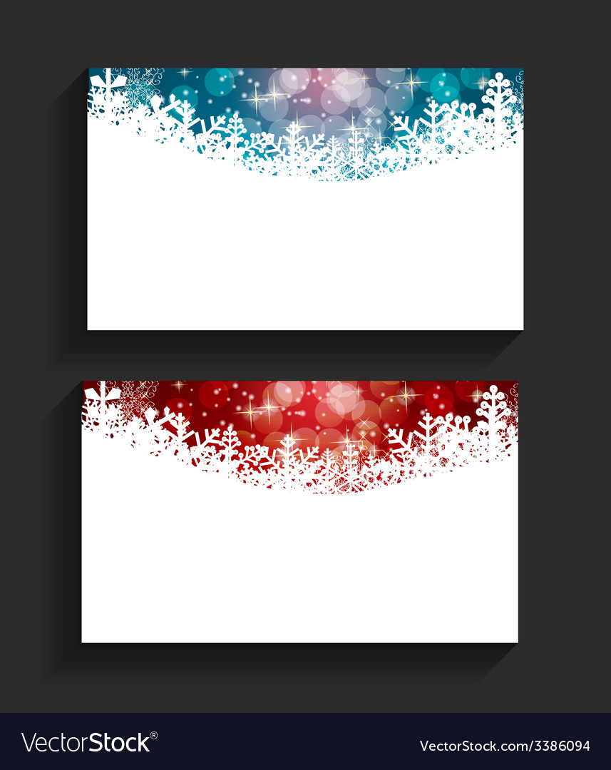 Company Christmas Business Card Royalty Free Vector Image
