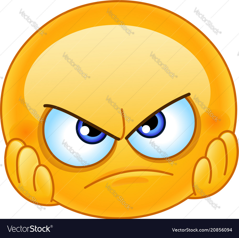 Disappointed Emoticon Royalty Free Vector Image