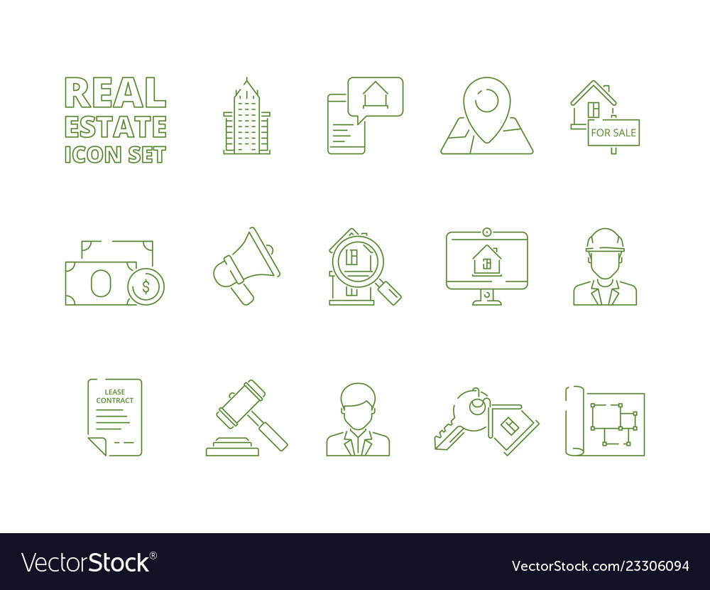House for sale icons realtor rent or selling