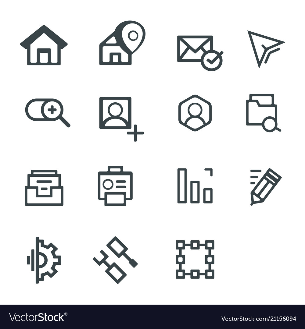 Media web icons for business finance and