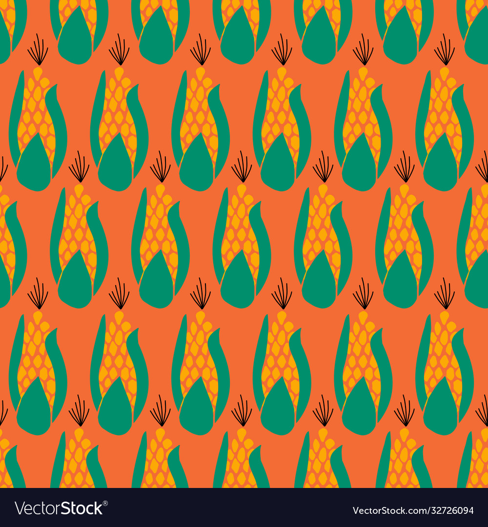 Seamless pattern corn maize repeating on