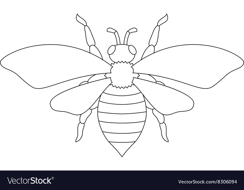 White Silhouette Bee Royalty Free Vector Image Choose from over a million free vectors, clipart graphics, vector art images, design templates, and illustrations created by artists worldwide! vectorstock