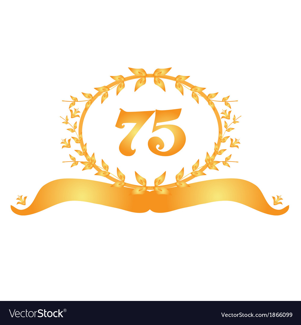 75th Anniversary Banner Royalty Free Vector Image