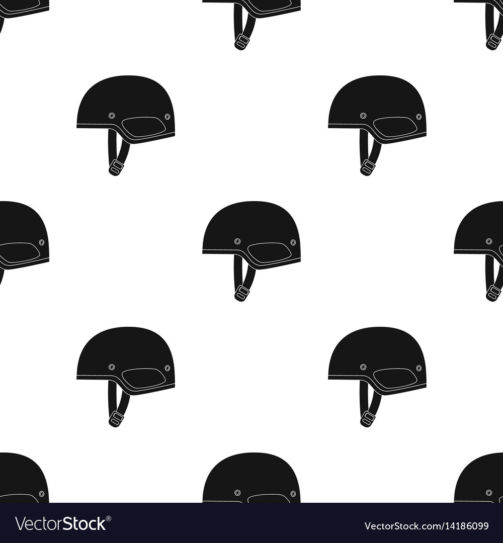 Army helmet icon in black style isolated on white