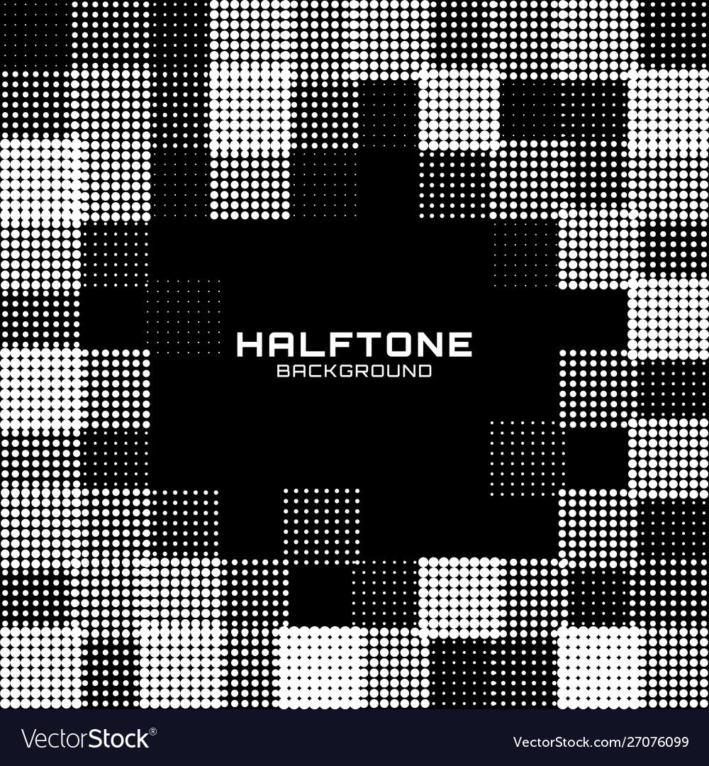 Border frame halftone circle dot grunge background