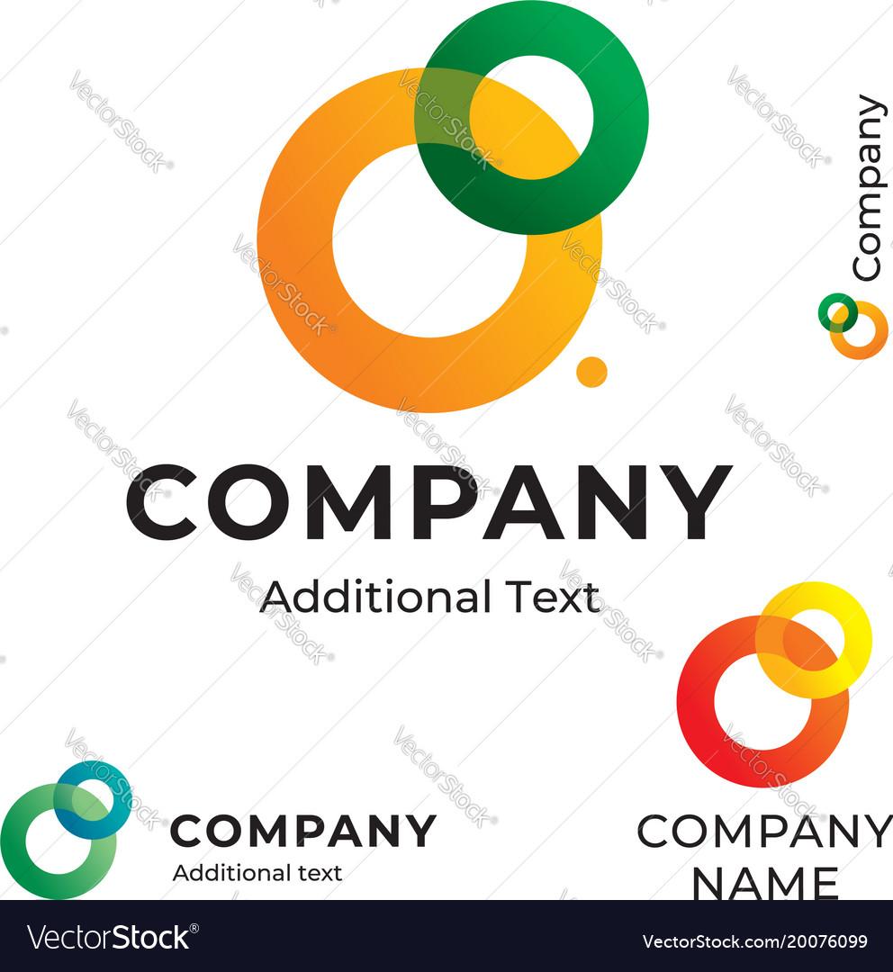 Contour circles logo bright colorful modern