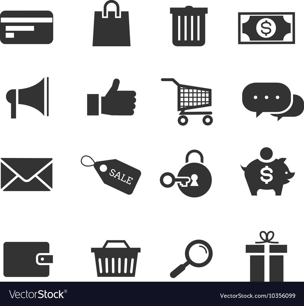 E-commerce shopping icons set vector image
