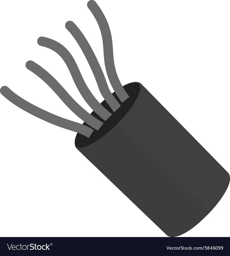 Electric wires Royalty Free Vector Image - VectorStock