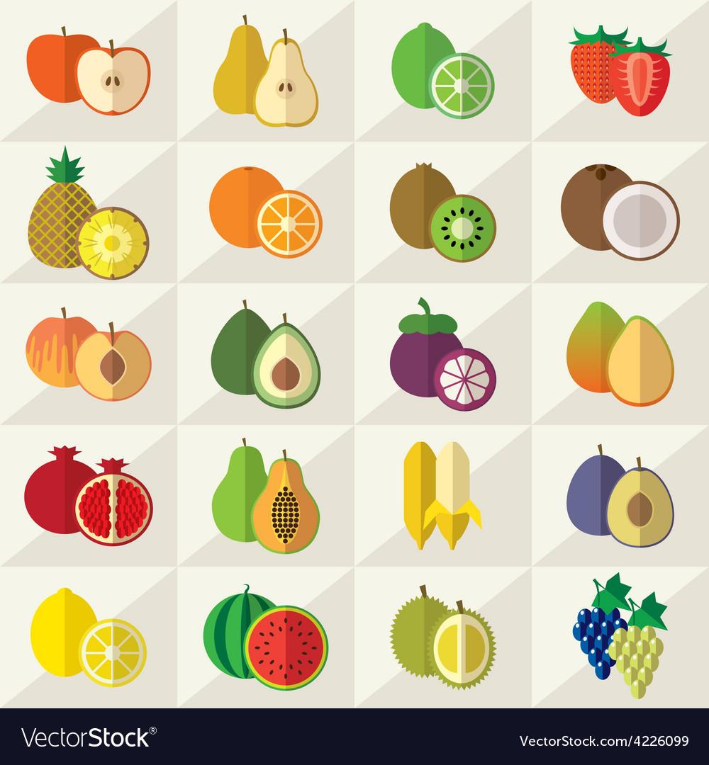 Fruits Sweets Icons Set
