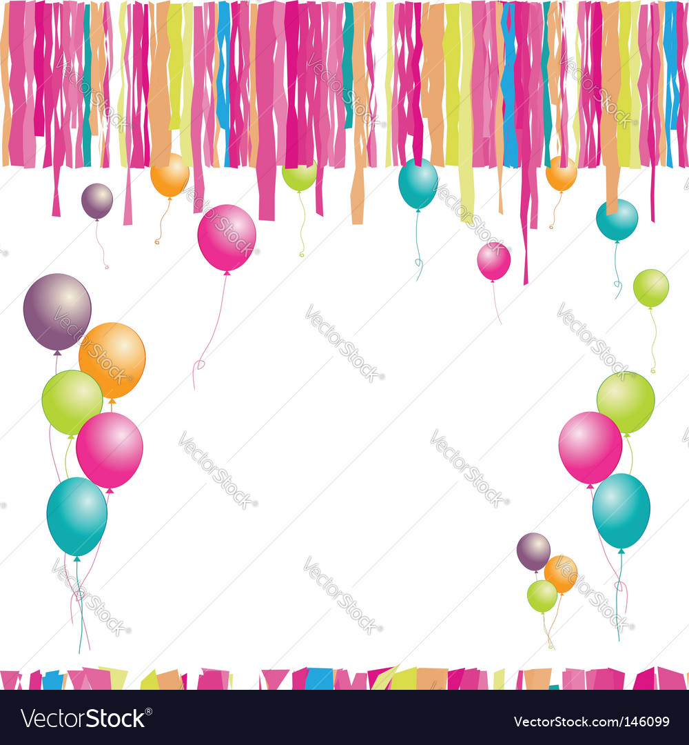 clipart birthday balloons. clip art balloons and confetti