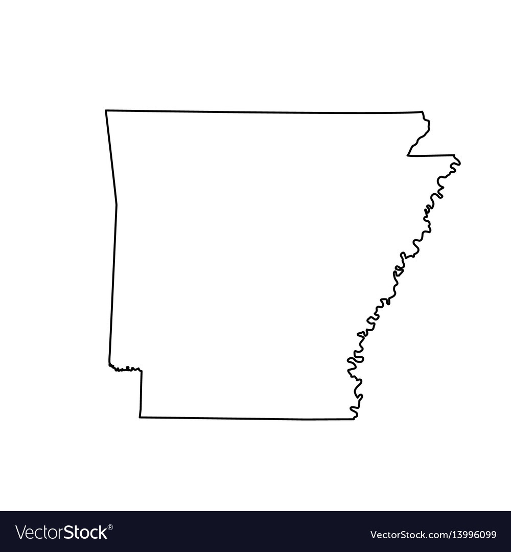 Map of the us state arkansas