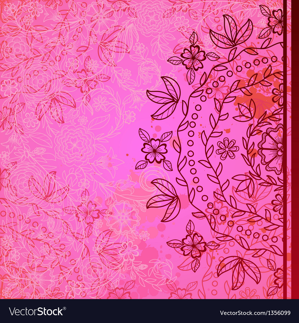 Ornamental floral round pattern