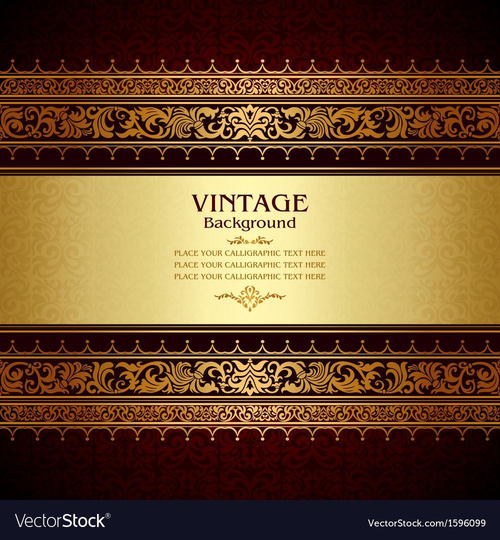 Royal vintage burgundy background vector image