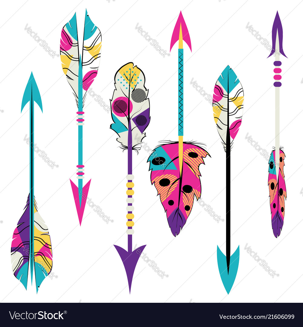 Tribal arrows design