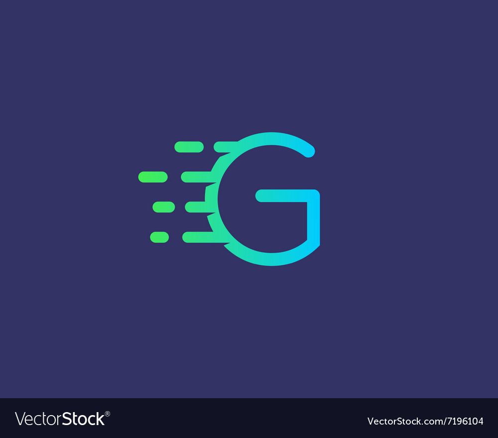 Abstract letter G logo design template Dynamic