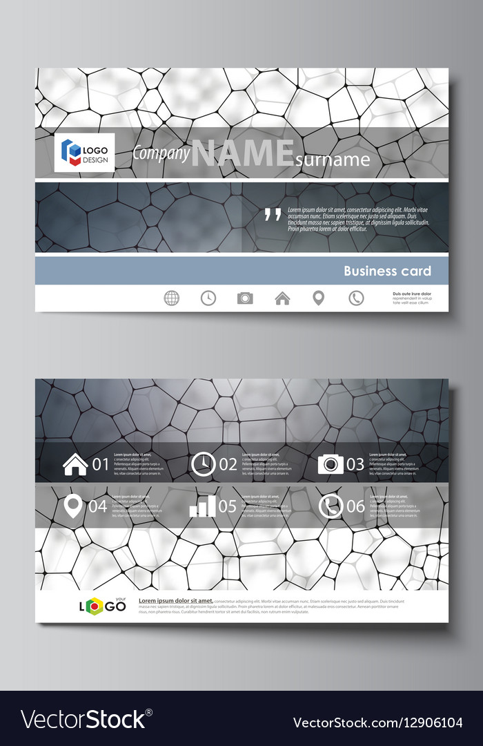 Business card templates easy editable layout vector image wajeb Gallery