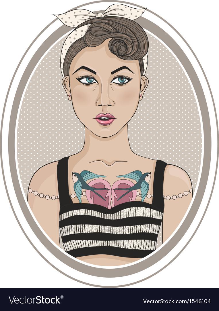 Cute rockabilly style fashion girl