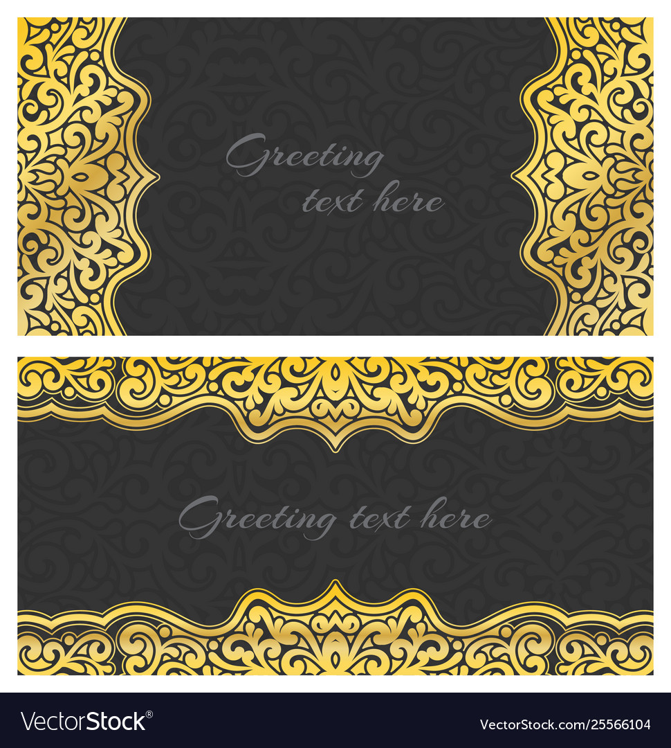 Elegant greeting vintage cards