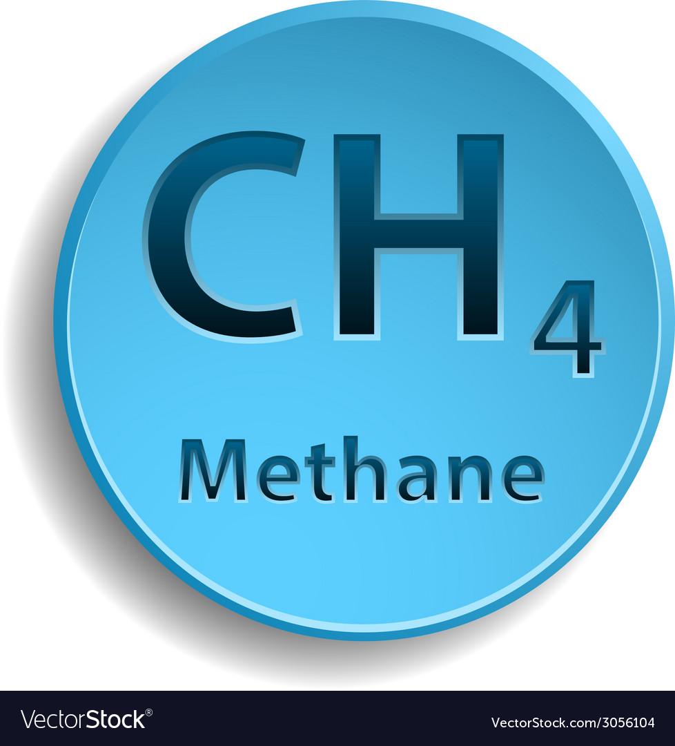 Elegant Methane Vector Image