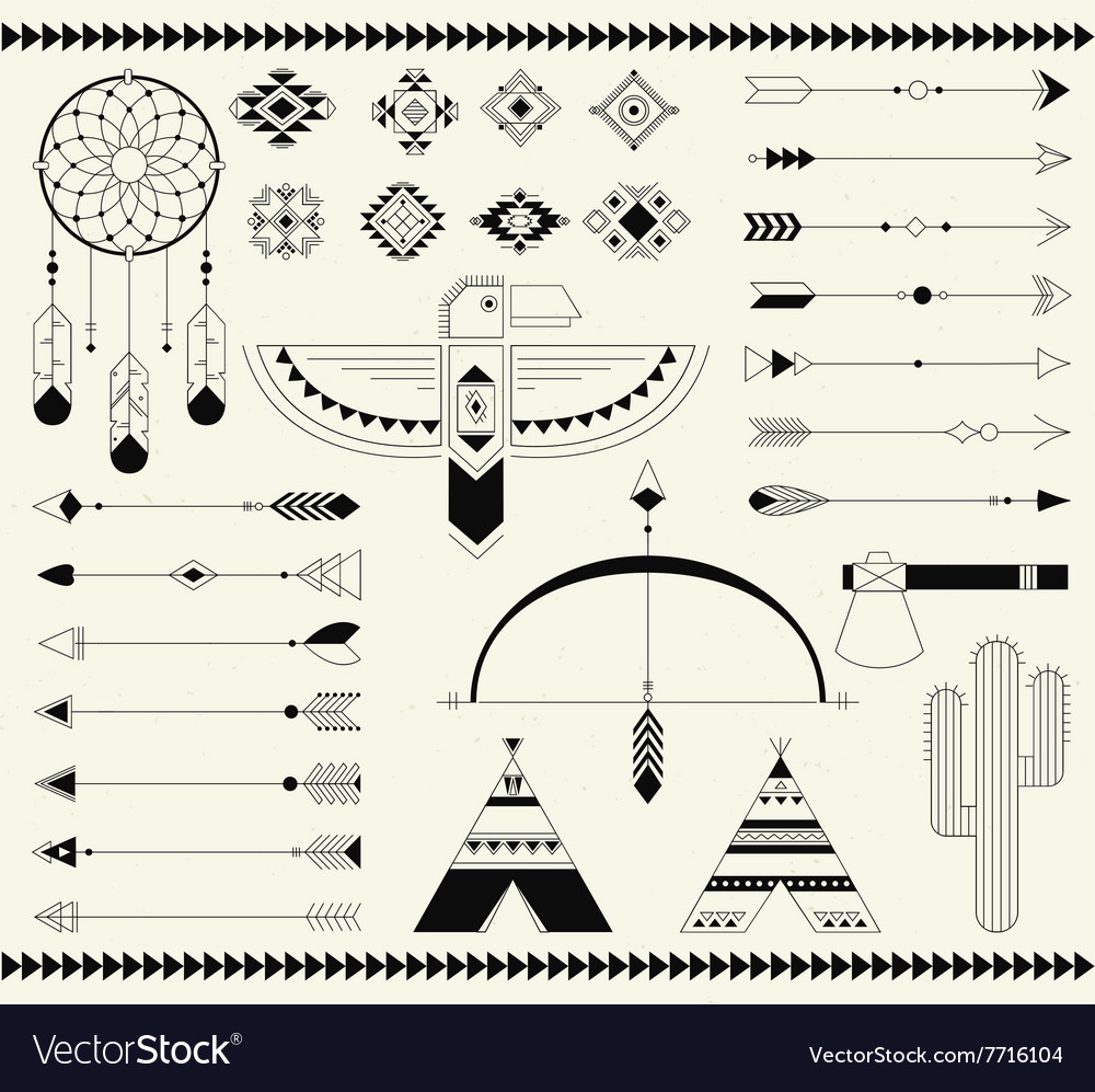 Tribal native american indian element