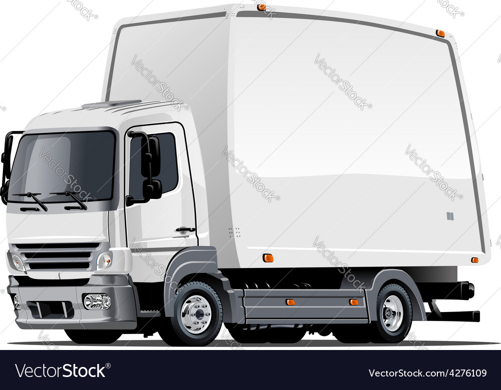 Cartoon delivery or cargo truck vector image