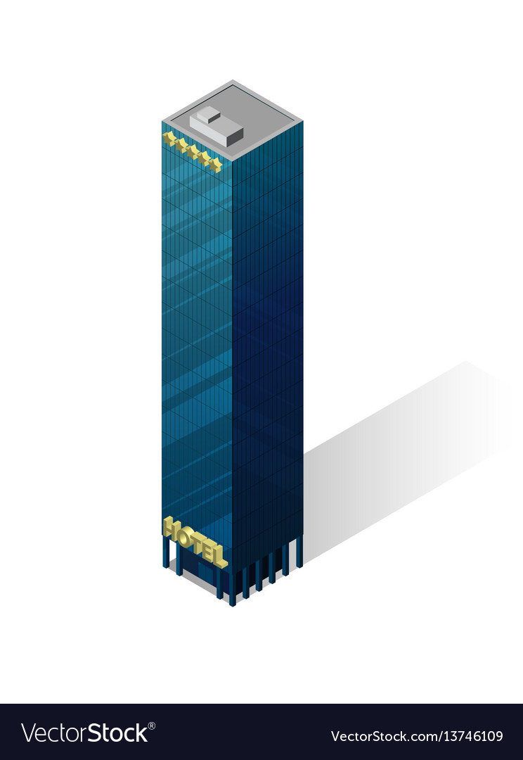 Isometric skyscraper icon