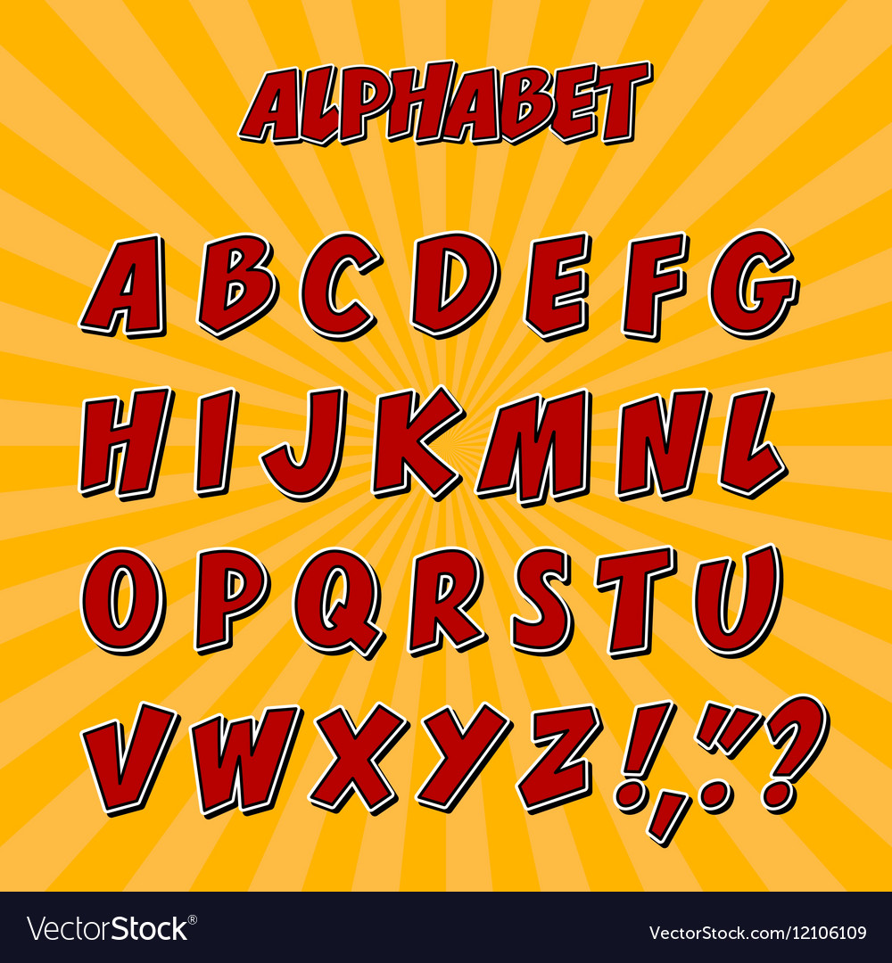 Kids alphabet or 3d font with letters