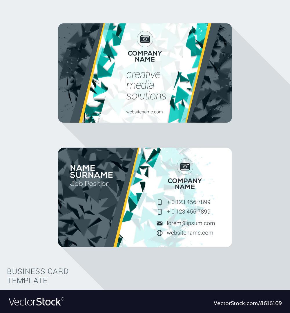 Modern creative business card template flat design Within Web Design Business Cards Templates
