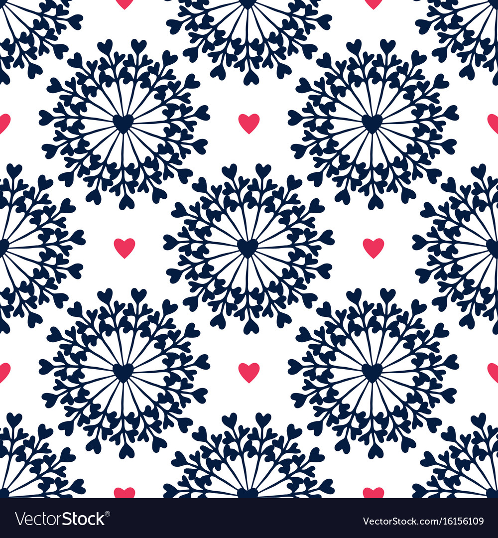 Seamless pattern with hand drawn circles and