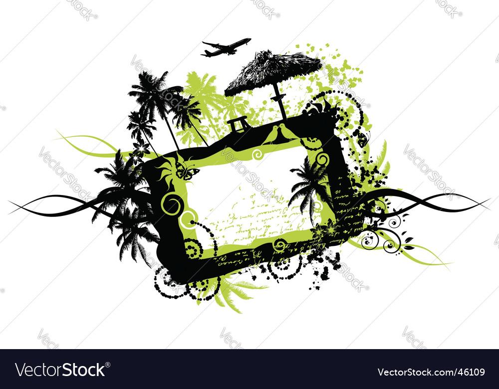 Summer vacations frame grunge