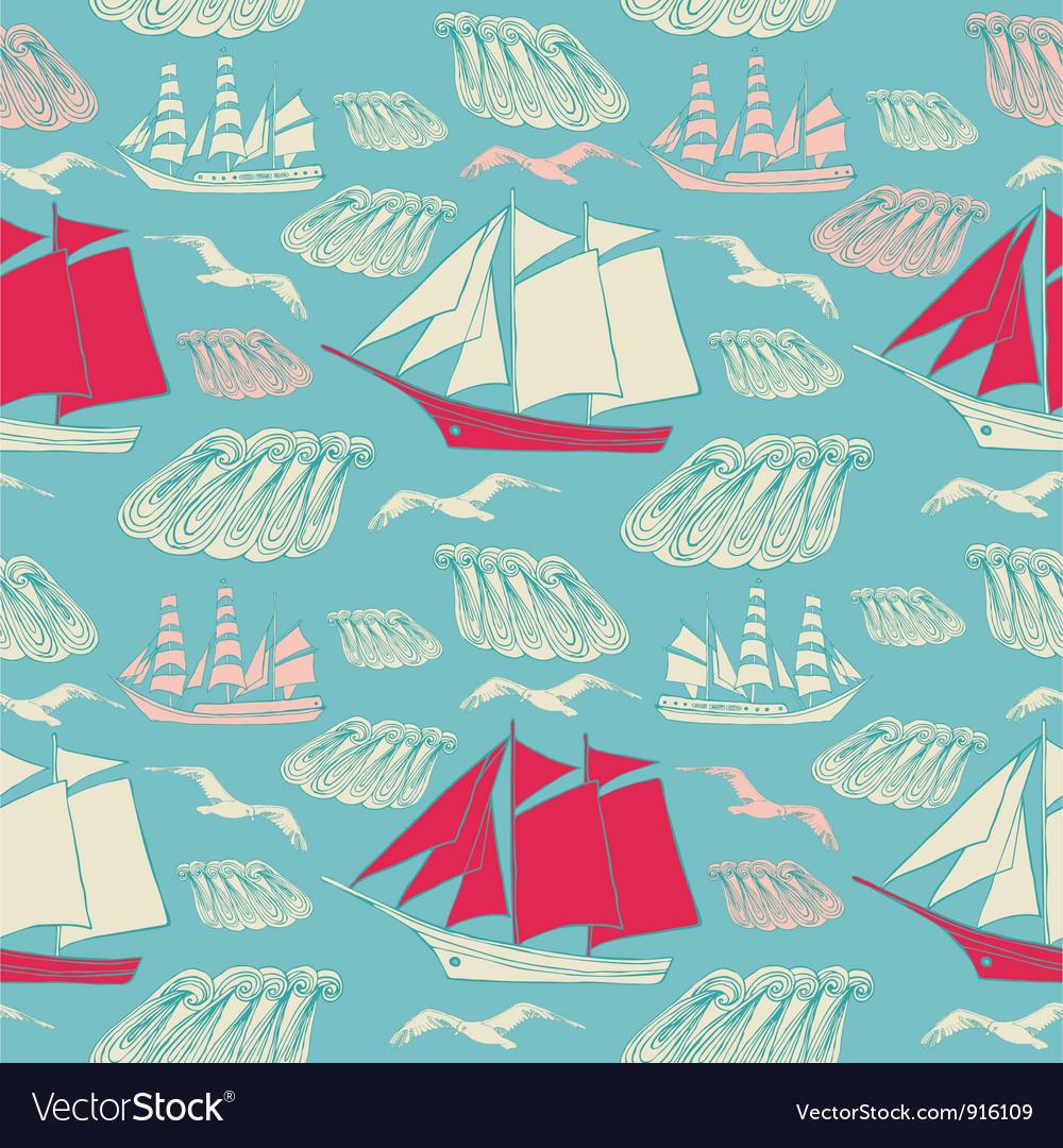 Voyage seamless background