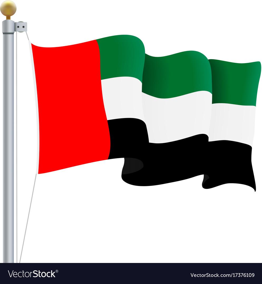 Waving united arab emirates flag uae flag Vector ImageUae Flag Animation