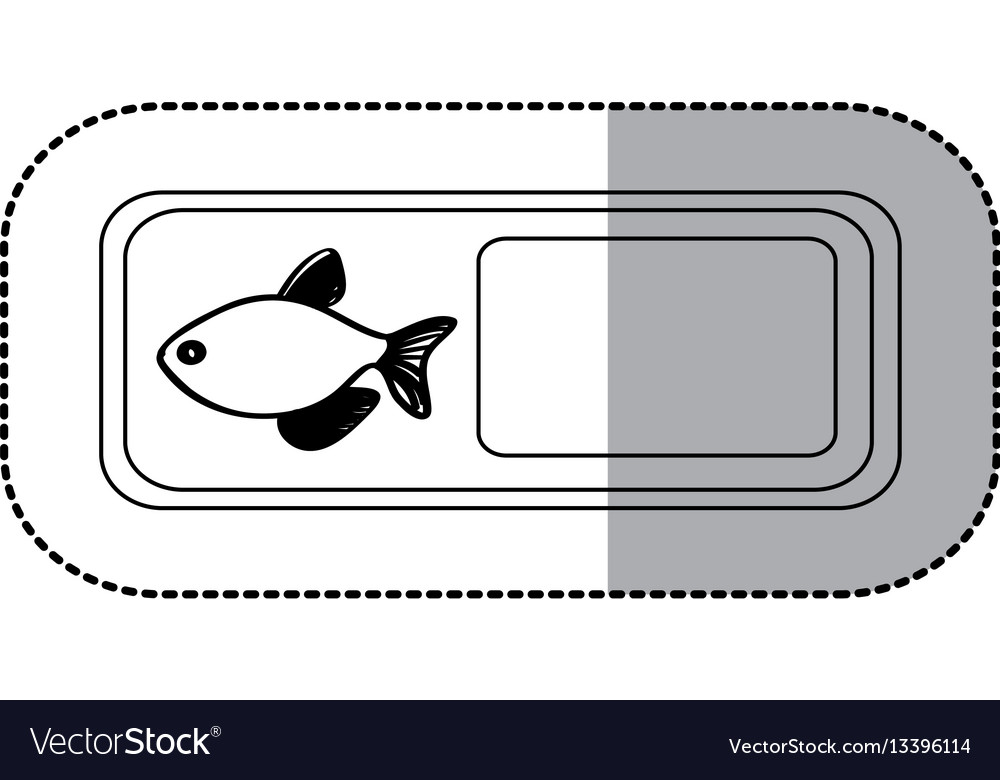 Figure emblem fish icon